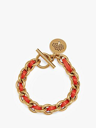 Mulberry Small Medallion Leather Chain Bracelet