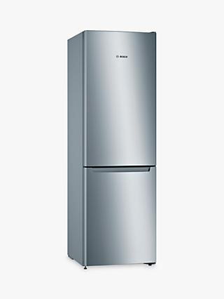 Bosch Serie 2 KGN33NLEAG Freestanding 50/50 Fridge Freezer, Stainless Steel Effect