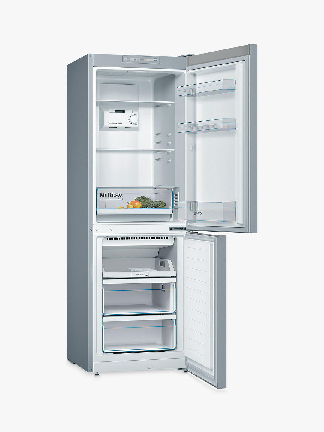 Buy Bosch KGN33NLEAG Freestanding 50/50 Fridge Freezer, A++ Energy Rating, 60cm Wide, Inox-look Online at johnlewis.com