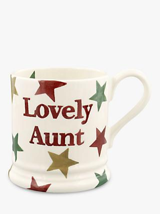 Emma Bridgewater Star 'Lovely Aunt' Half Pint Mug, 280ml, Multi