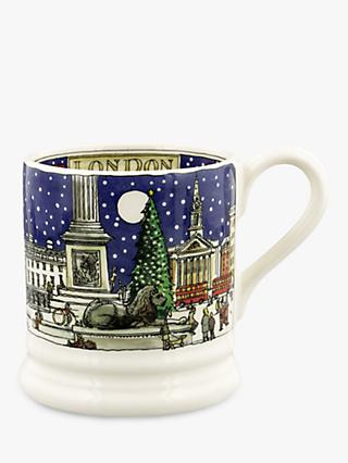 Emma Bridgewater Cities of Dreams London Christmas Half Pint Mug, 280ml, Blue/Multi