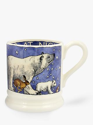 Emma Bridgewater Winter Animals at Night Half Pint Mug, 280ml, Blue/Multi