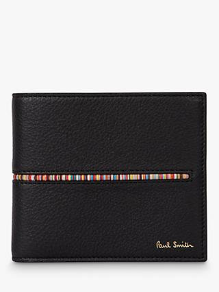 Paul Smith Signature Stripe Insert Leather Wallet, Black/Multi