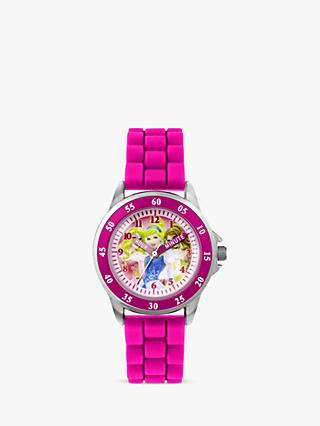 Disney Princess PN1078 Children's Plastic Strap Watch, Pink