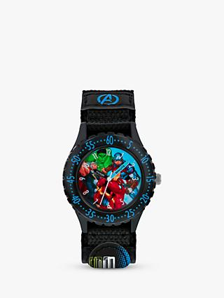 Disney Avengers AVG5008 Children's Plastic Strap Watch, Black/Multi