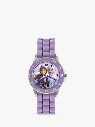Disney Frozen Anna FZN9505 Children's Plastic Strap Watch, Purple/Multi