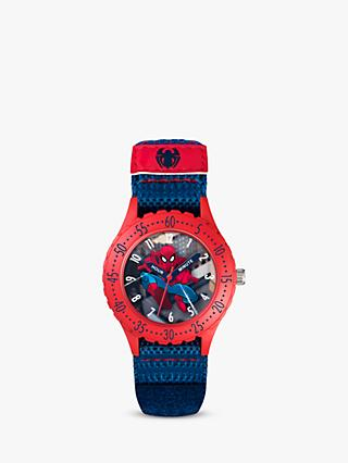 Disney Spiderman SPD3495ARG Children's Plastic Strap Watch, Blue/Multi