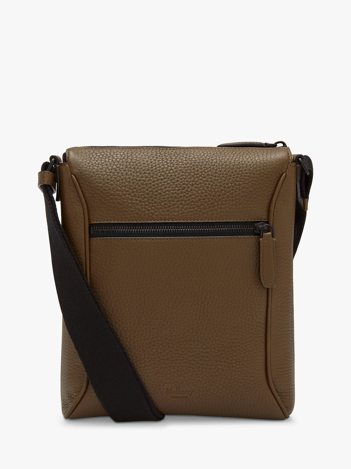 Buy Mulberry Urban Heavy Grain Leather Small Messenger Bag, Dark Palm Online at johnlewis.com