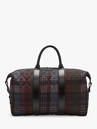 Mulberry Check Quilt Zipped Weekender Bag