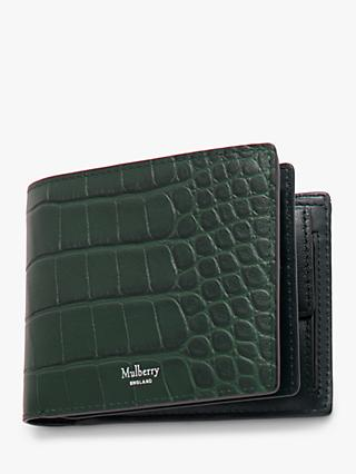 Mulberry Eight Card Croc Embossed Leather Wallet