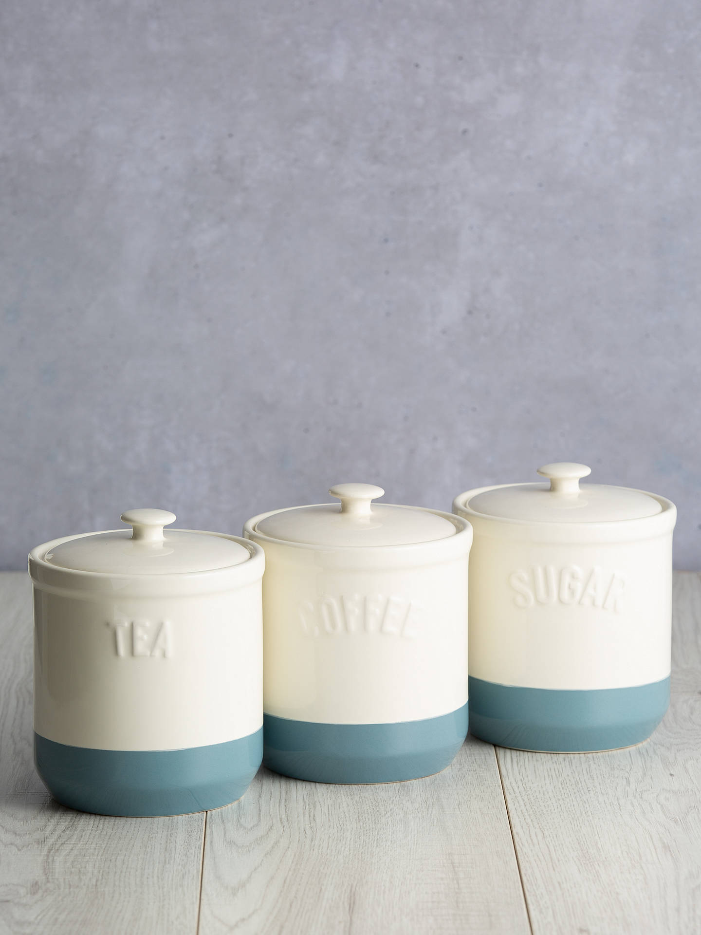 Buy Mason Cash Stoneware Coffee Jar, Cornflour Blue Online at johnlewis.com