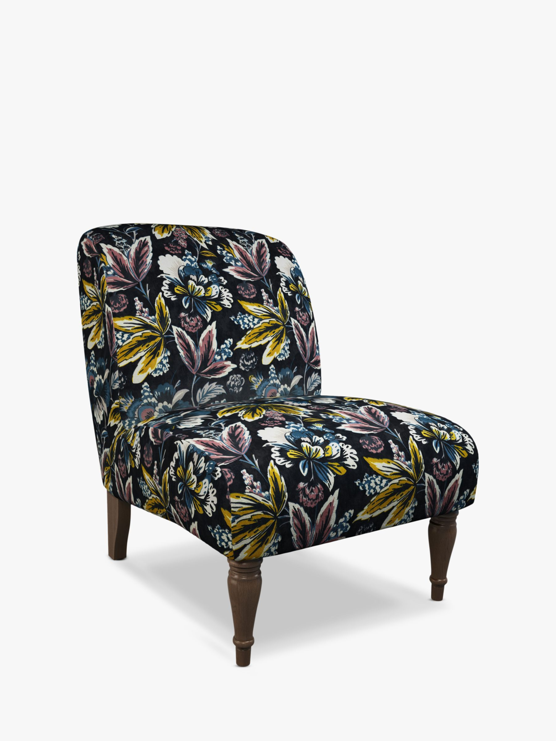 John Lewis & Partners Lounge Chair, Dark Leg, Flor Navy