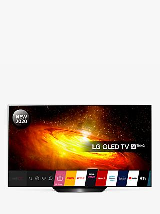 LG OLED65BX6LB (2020) OLED HDR 4K Ultra HD Smart TV, 65 inch with Freeview HD/Freesat HD, Dolby Atmos Sound & Alpine Stand, Black