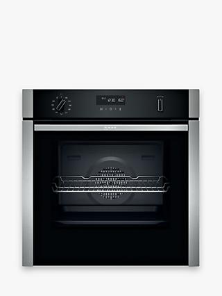 Neff B6ACH7HH0B Slide and Hide Pyrolytic Built-In Smart Single Oven, Stainless Steel