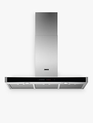 Zanussi ZFT919Y 90cm Chimney Cooker Hood, C Energy Rating, Stainless Steel