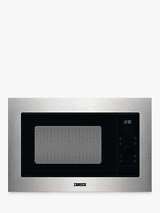 Zanussi ZMSN7DX Built-In Microwave Oven with Grill, Stainless Steel