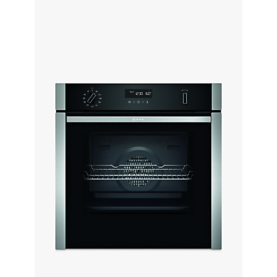 Image of Neff B5ACH7AH0B Slide and Hide Self-Cleaning Built-In Single Electric Oven, 60cm, Stainless Steel