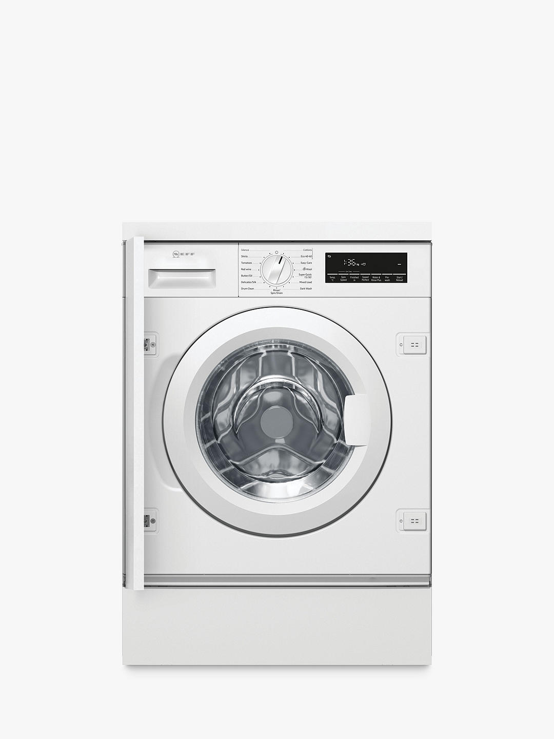Buy Neff W544BX1GB Integrated Washing Machine, 8kg Load, 1400rpm Spin, White Online at johnlewis.com