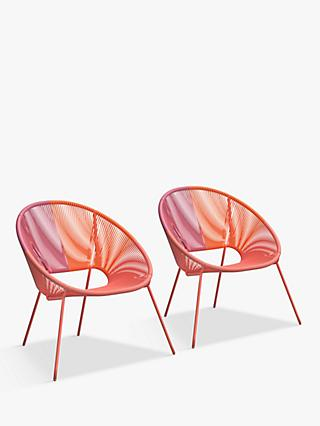 House by John Lewis Salsa Garden Mini Chairs, Set of 2, Orange Ombre