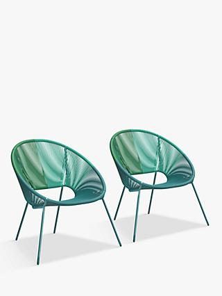 House by John Lewis Salsa Garden Mini Chairs, Set of 2, Aegean Ombre