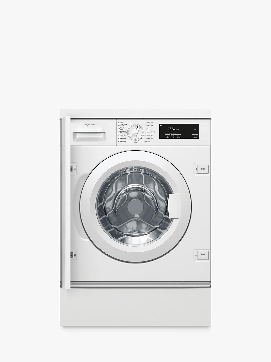 Buy Neff W543BX1GB Integrated Washing Machine, 8kg Load, 1400rpm Spin, White Online at johnlewis.com