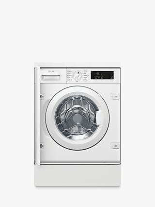Neff W543BX1GB Integrated Washing Machine, 8kg Load, 1400rpm Spin, White