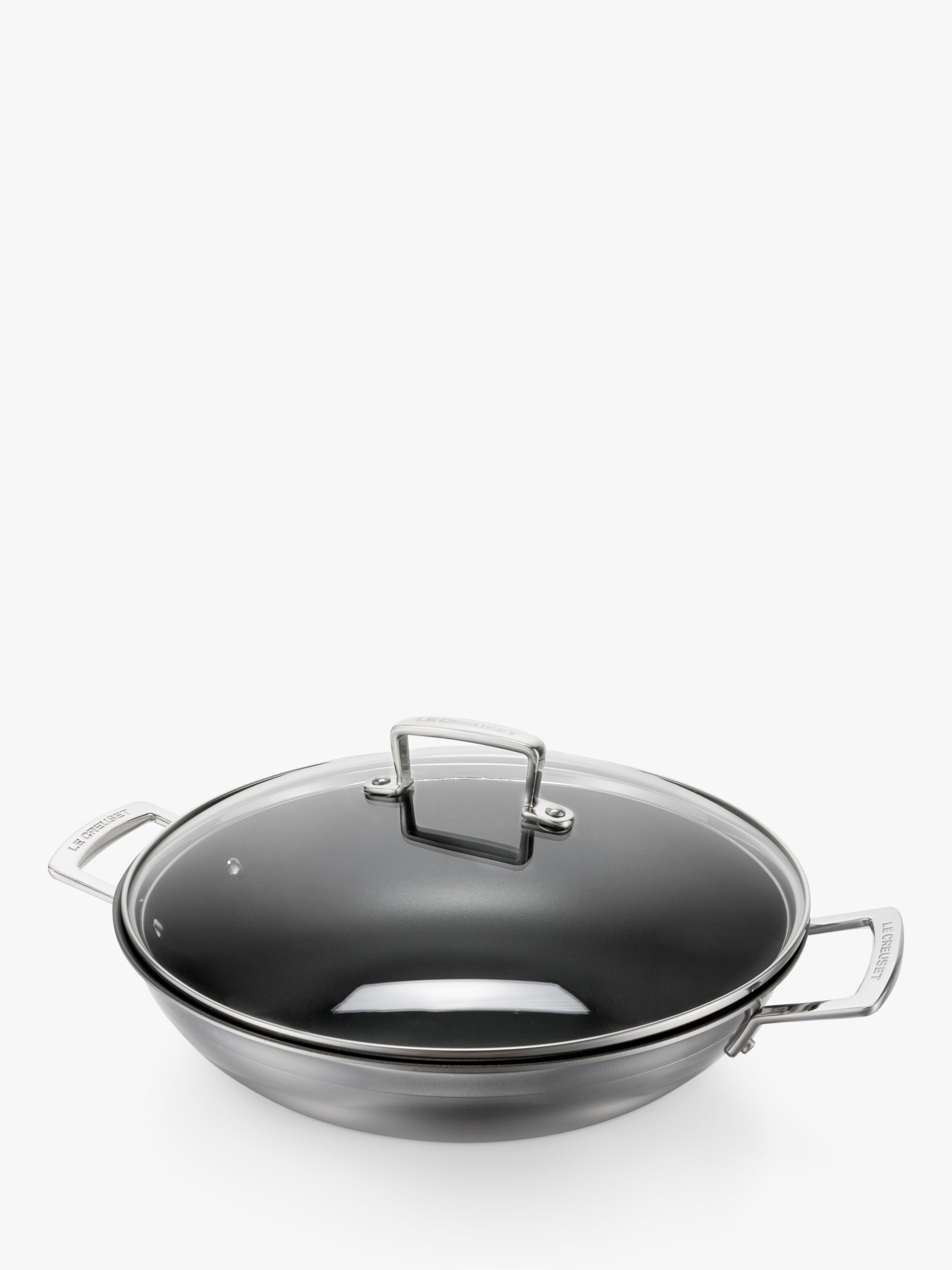Le Creuset 3-Ply Stainless Steel Non-Stick Wok & Lid, 30cm