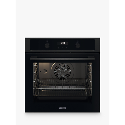Zanussi Series 20 ZOCND7K1 59cm Built-in Single Electric Oven, A+ Energy Rating, Black
