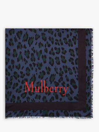 Mulberry Leopard Square Scarf