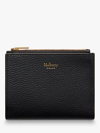 Mulberry Small Classic Grain Leather Zipped Card Wallet