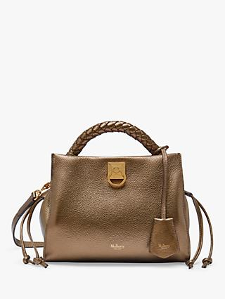 Mulberry Small Iris Metallic Small Grain Leather Shoulder Bag