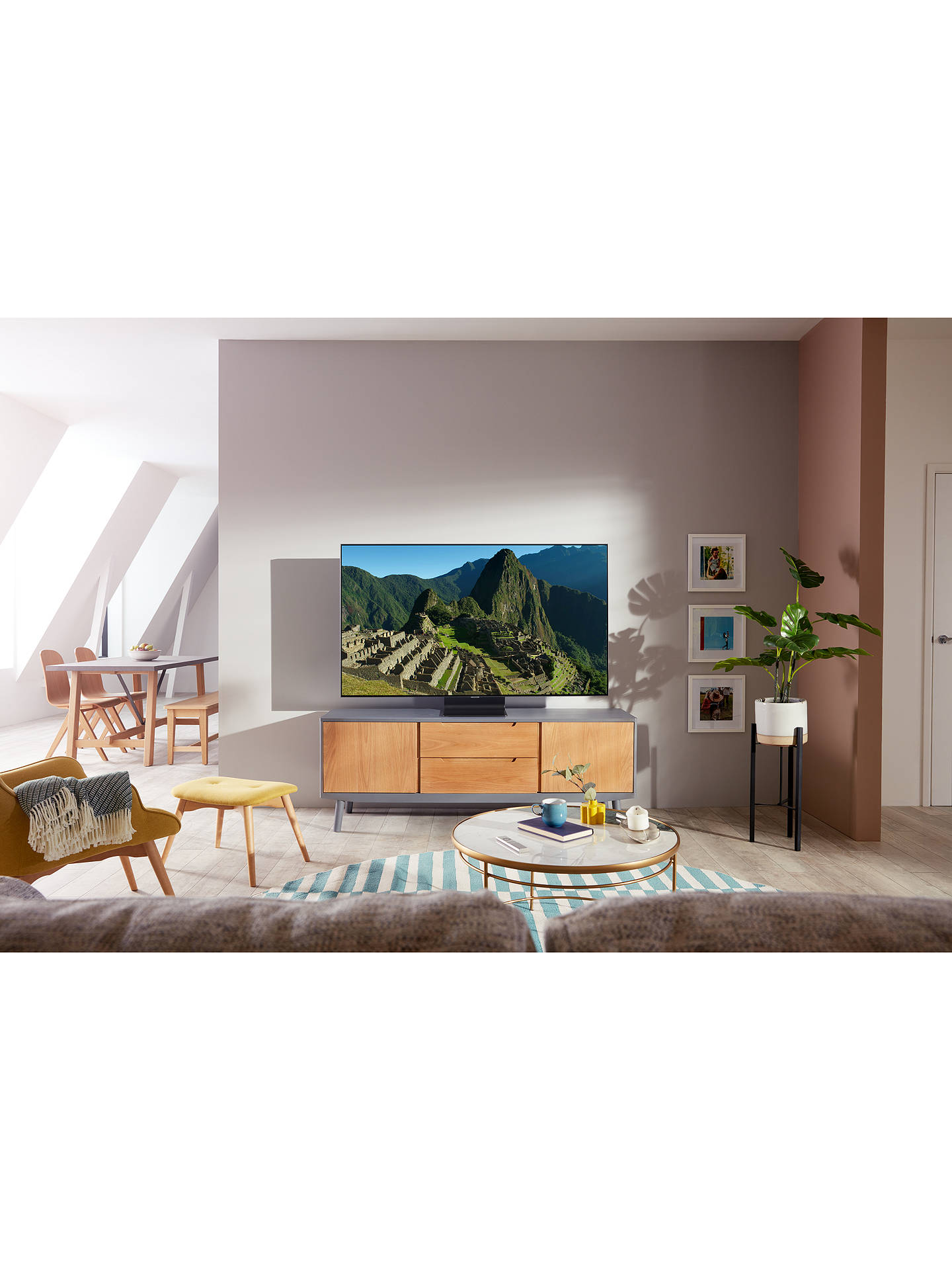 Buy Samsung QE55Q95T (2020) QLED HDR 2000 4K Ultra HD Smart TV, 55 inch with TVPlus/Freesat HD, Black Online at johnlewis.com