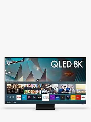 Samsung QE65Q800T (2020) QLED HDR 2000 8K Ultra HD Smart TV, 65 inch with TVPlus/Freesat HD, Black
