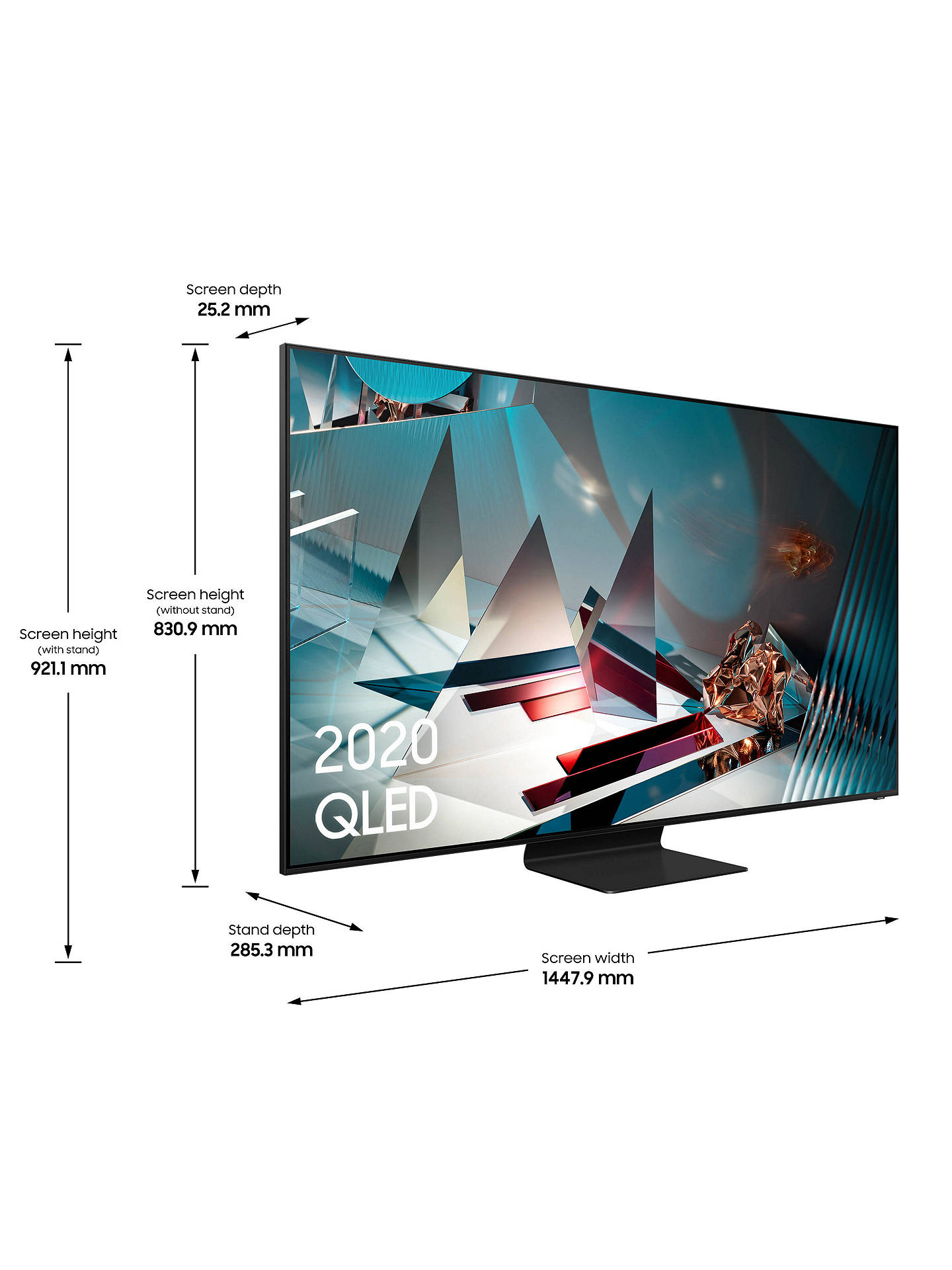 Samsung QE65Q800T (2020) QLED HDR 2000 8K Ultra HD Smart TV, 65