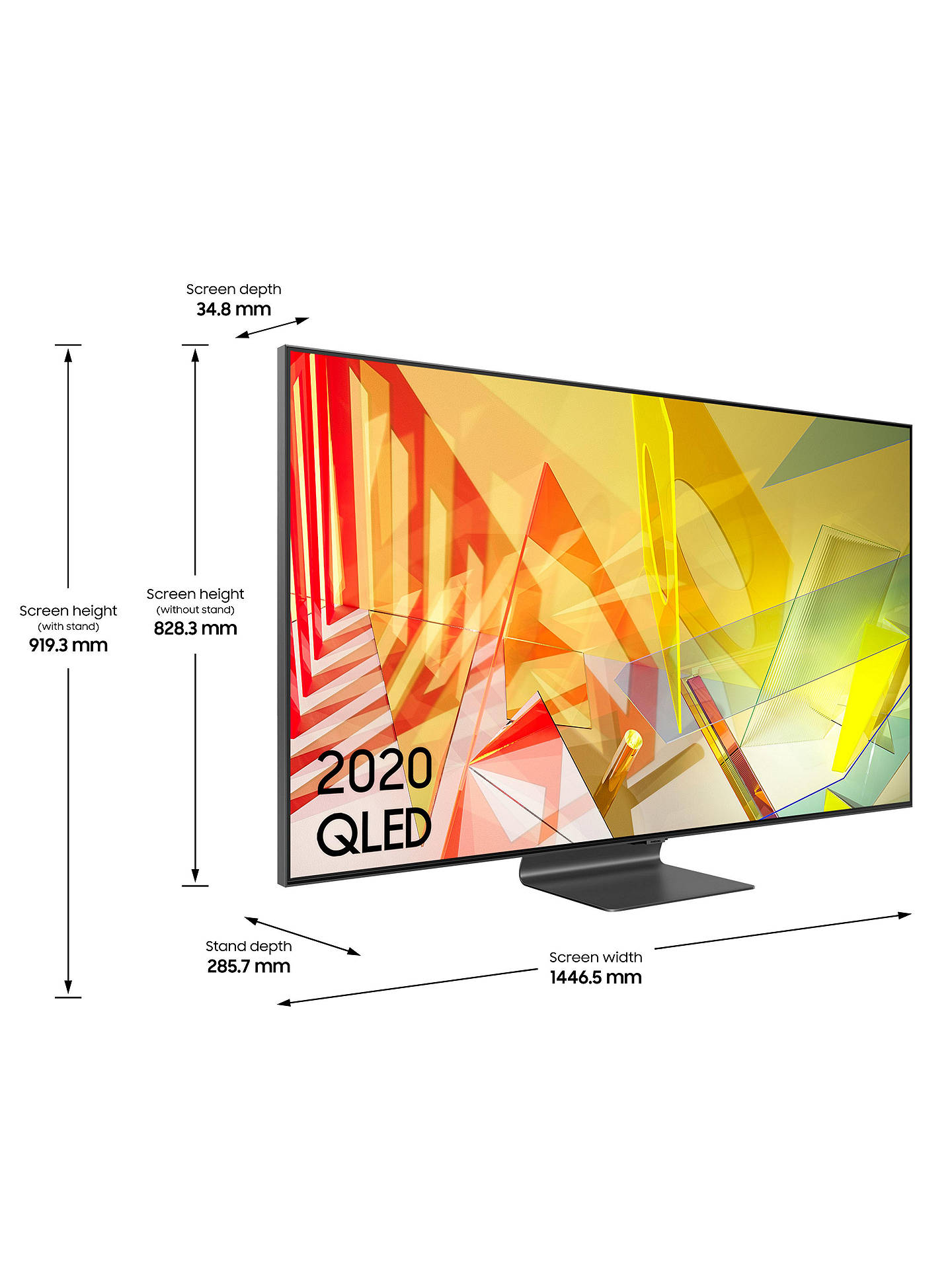 Buy Samsung QE65Q95T (2020) QLED HDR 2000 4K Ultra HD Smart TV, 65 inch with TVPlus/Freesat HD, Black Online at johnlewis.com