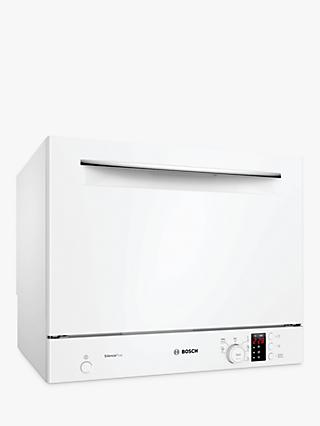 Bosch Serie 4 SKS62E32EU Freestanding Compact Dishwasher, A+ Energy Rating, White