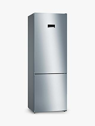 Bosch Serie 4 KGN49XLEA Freestanding 70/30 Fridge Freezer, A++ Energy Rating, 70cm Wide, Inox-look