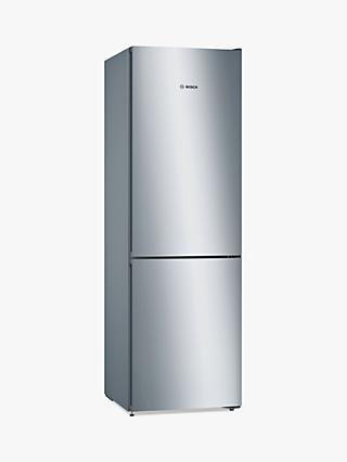 Bosch Serie 4 KGN36VLEAG Freestanding 60/40 Fridge Freezer, A++ Energy Rating, 60cm Wide, Inox-look