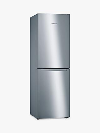 Bosch Serie 2 KGN34NLEAG Freestanding 50/50 Fridge Freezer, A++ Energy Rating, 60cm Wide, Inox-look