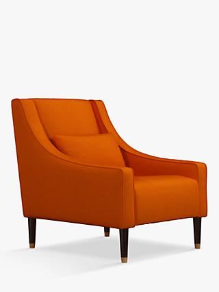 Swept Range, John Lewis & Partners Swept Armchair, Dark Leg, Aquaclean Harriet Orange