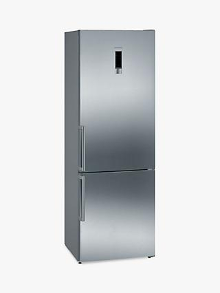 Siemens iQ300 KG49NXIEPG Freestanding 70/30 Fridge Freezer, A++ Energy Rating, 70cm Wide, Stainless Steel