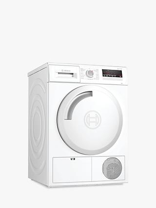Bosch WTN83201GB Freestanding Condenser Tumble Dryer, 8kg Load, B Energy Rating, White