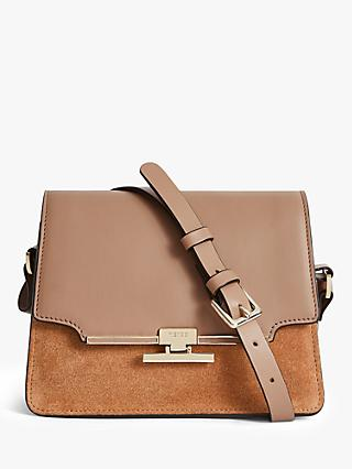 Reiss Rosa Leather Cross Body Bag