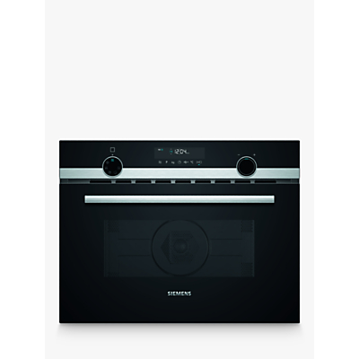 Siemens CM585AGS0B Built-In Combination Microwave Oven with Grill, Stainless Steel