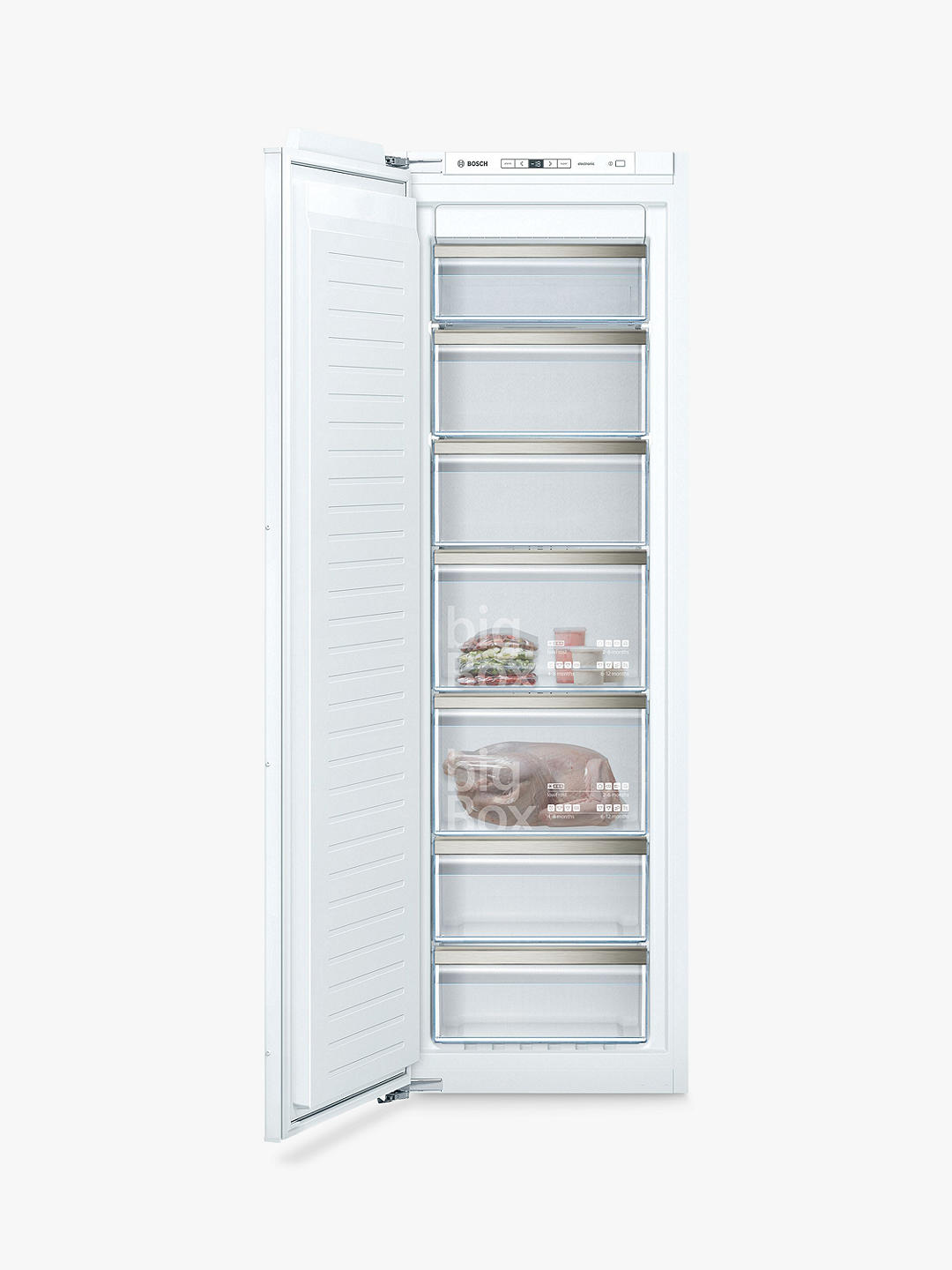 Buy Siemens iQ500 GI81NAEF0G Integrated Tall Freezer, A++ Energy Rating, 56cm Wide, White Online at johnlewis.com