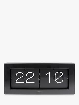 Karlsson Extra Large Boxed Flip XL Wall/Table Clock, Black