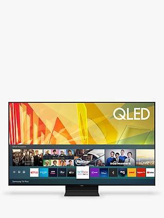 Samsung QE55Q90T (2020) QLED HDR 2000 4K Ultra HD Smart TV, 55 inch with TVPlus/Freesat HD, Black