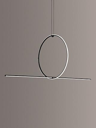 Flos Arrangements Small Round and Line LED Ceiling Light, Black