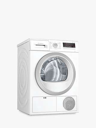 Bosch WTN85201GB Condenser Tumble Dryer, 7kg Load, B Energy Rating, White