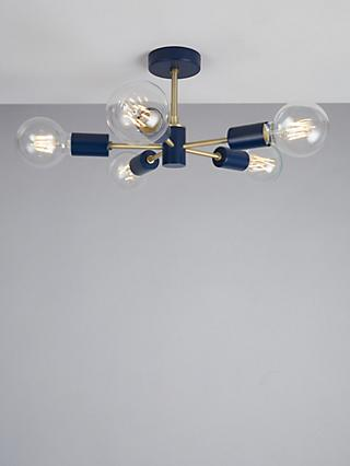 House by John Lewis Spoke Semi Flush Ceiling Light